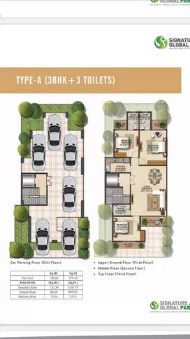 3bhk Low Rise floors in affordable