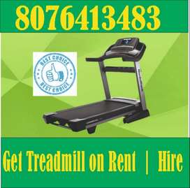 spinbike cross trainer Treadmill gym bench on rent punjabii bagh