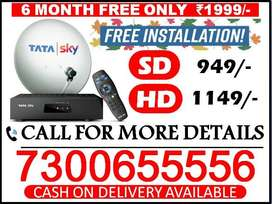 tata sky & airtel tv & dish tv all india distributor free cash on D