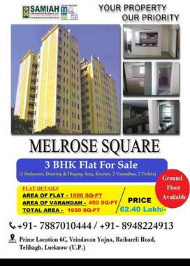 3 BHK Flat With 2 Verandahs For Sale Sec 6C Vrindavan Yojna, Lucknow