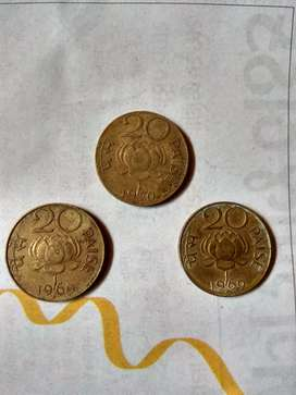 Old coins 20 paise