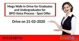 Mega Walk-in Drive For Freshers & Experienced for BPO Voice process