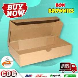 (sku0001514) Kotak Box Brownies Kemasan Cake Box Ukuran 21X11X4 CM