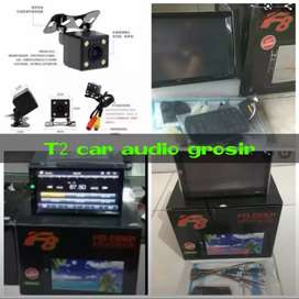 Mumer om dvd 2din F8 android link led 7inc+camera hd grosir sby