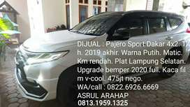 PAJERO SPORT 2019 DAKAR AT PUTIH UPGRADE 2020