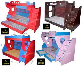 Pink Blue Double Story Bunker Bed At Factory Rate