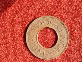 Hole pice coin very rare before independence