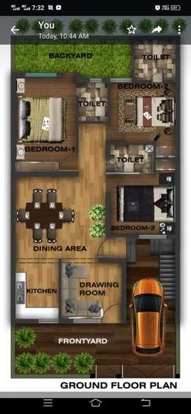Floor plans rendered view