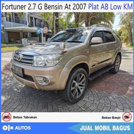 Fortuner 2.7 G Bensin At 2007 Plat AB Low KM Bisa Kredit