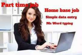 Data entry work home base job laptop must