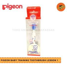 PIGEON BABY TRAINING TOOTHBRUSH LESSON 1 - Sikat Gigi Bayi
