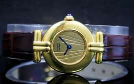 Cartier Ladies Roll Gold Steel Women's Quartz Watch Rolex Omega Buyer