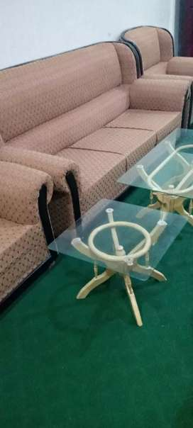 3 set and 2 set sofa set with 3 table free one month use and fresh set