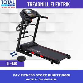 Treadmill Listrik 5 Fungsi Auto Incline New TL 138 Murah Bergaransi