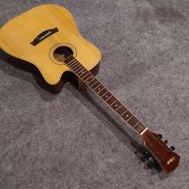 Gitar Akustik syoruce cutaway maple
