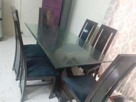 New condition 6 chairs large table .