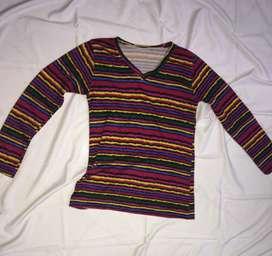Baju wanita lengan panjang rainbow fit to L