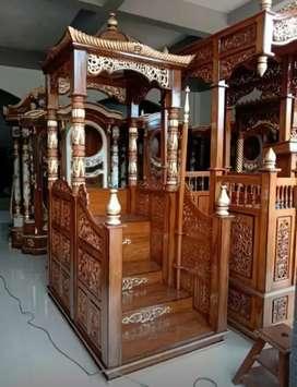 Furniture jepara asli , Mimbar masjid jati Mrjati jpr