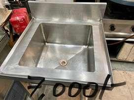 Cold bain marie , steel table, racks, steel handwash, chines counter