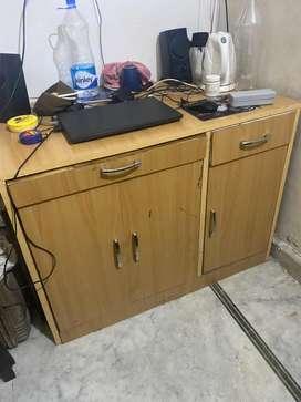 Wooden computer Table 4 feet width 3 feet hight
