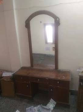 Dressing table with double bed