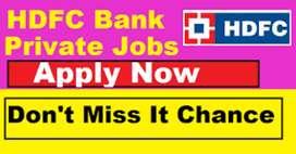 Urgent hiring in hdfc bank job