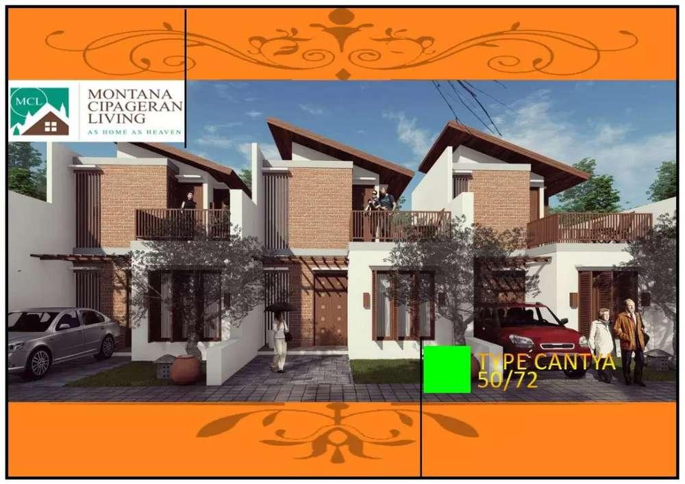 rumah 2 lantai murah di cipageran bisa kpr bank syariah