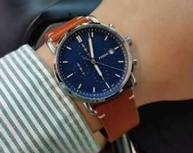 Refurbished fossil leather watch CASH ON DELIVERY price negotiable