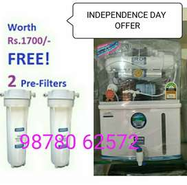 WITH 2 PRE FILTER . INDEPENDENCE DAY OFFER START AQUAGRAND RO WATER PU