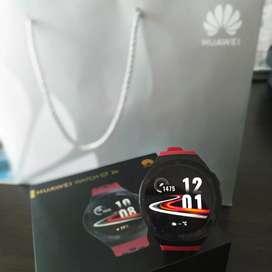 Huawei Smartwatch GT2e Merah Resmi Mulus Like New Garansi Panjang