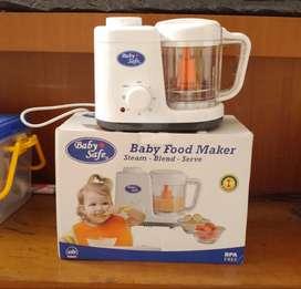 GARANSI RESMI BABY SAFE BABY FOOD MAKER STEAM & BLEND [LB003]