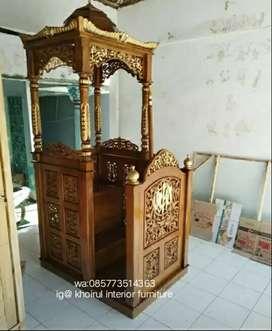 Mimbar khotbah masjid ceramah kayu jati 21sdm.