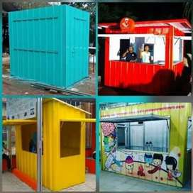 Booth semi container dan foodtruck