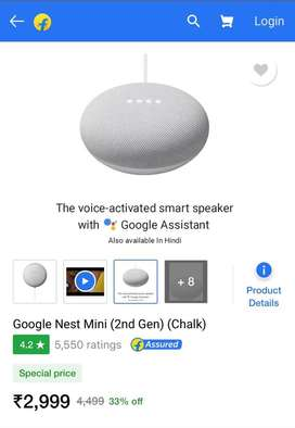 Google Nest Mini - 2nd Gen - Sealed Pack - With Bill