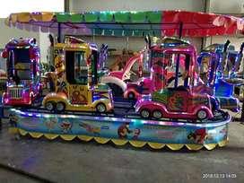 wahana kereta rel Truck fiber Warna cerah komedi putar safari DOV