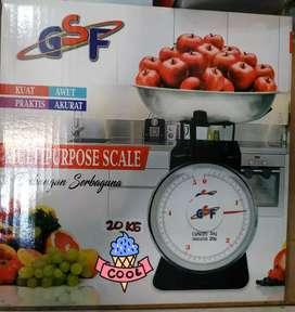 Timbangan duduk jarum 5kg/10kg/15kg bisa utk laundry/buah