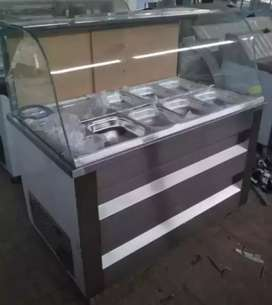 Russian salad bar with cooling system