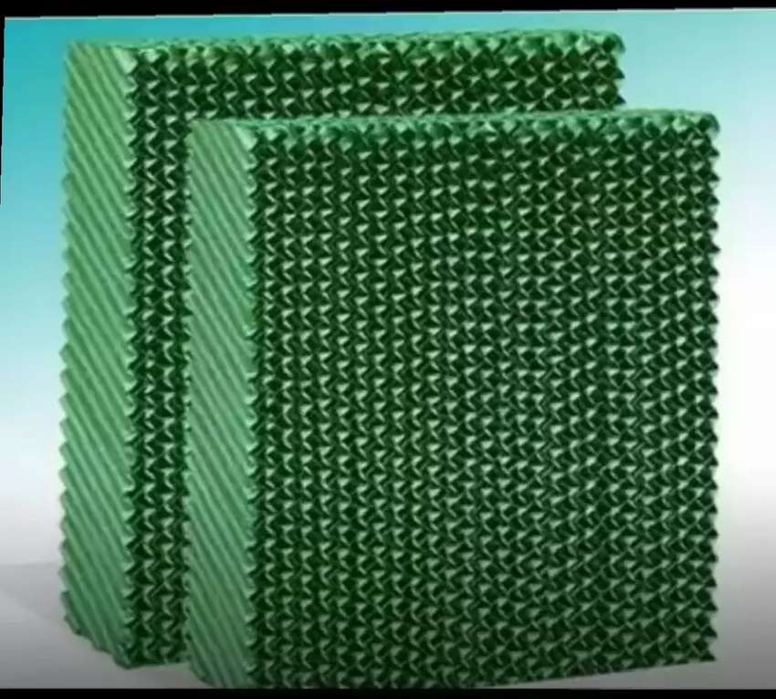 Evaporating honeycomb cellulose air cooling pads for all air coolers