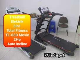 TL-630 Treadmill Elektrik 3in1 Otomatis Incline