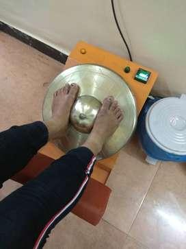 Swastik Kansya Thali Foot Massage