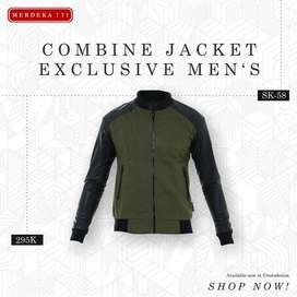 Jaket Kulit Bikers Kombinasi | Jaket Jogja | Crowsdenim SK-58