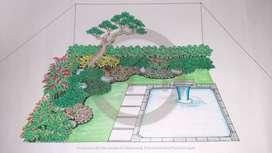 Jasa Tukang Taman Rumput Hias Rumah Minimalis Klasik