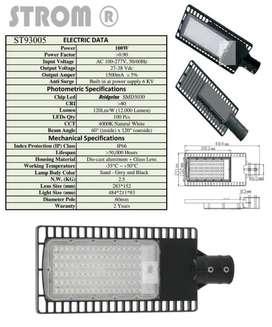 Lampu PJU 100watt Merk Strom