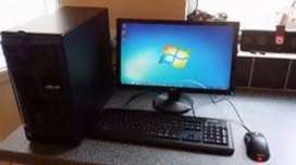 "Core2duo 4gb ram 160gb hdd 19""lcd keyboard mouse rs.6500"