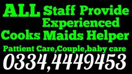 We Providing you better Cook,Driver,maids