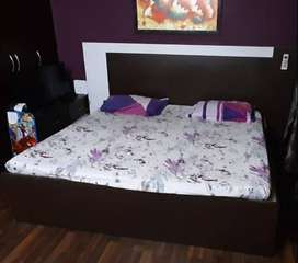 Double Bed with side table along with Mattress