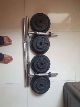 Decathlon weights set with Detachable rod