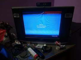 Sell sony tv with tv table.