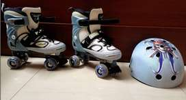 Roller Skates with Helmet