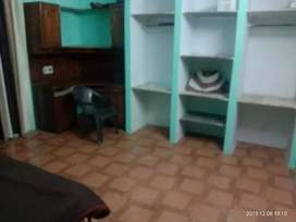 One room with attached kitchen.. Bathroom